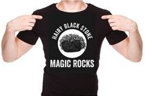 Hairy Black Stone: Magic Rocks T-Shirt
