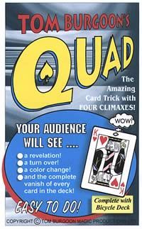 Tom Burgoon's QUAD The Amazing Card Effects with 4 Climaxes!